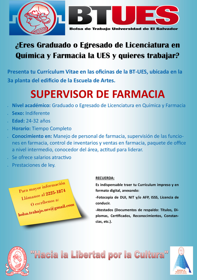 Curriculum Vitae Quimico Farmaceutico